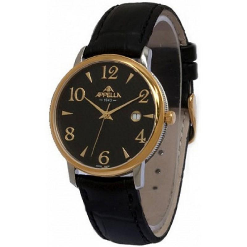 4303-2014 швейцарские мужские кварцевые часы Appella  4303-2014