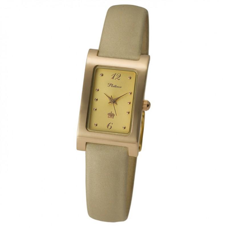 """200150.422 российские золотые кварцевые наручные часы Platinor """"Камилла"""" для женщин  200150.422"""