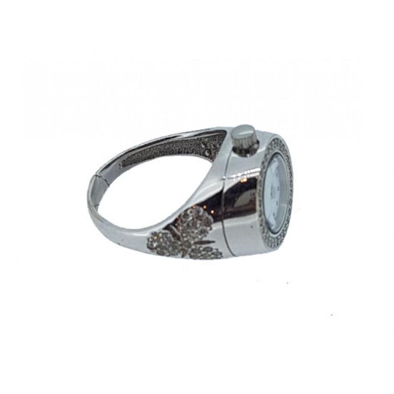 40306-4 Часы-перстень кварц жен.сер 925* вст-ка фианит
