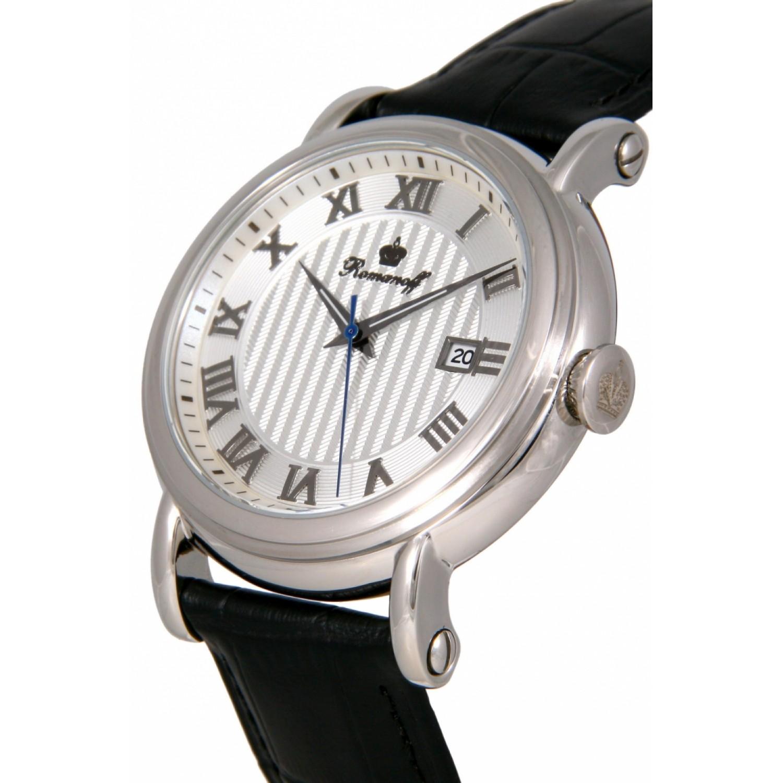 3714G1BL российские мужские кварцевые наручные часы Romanoff