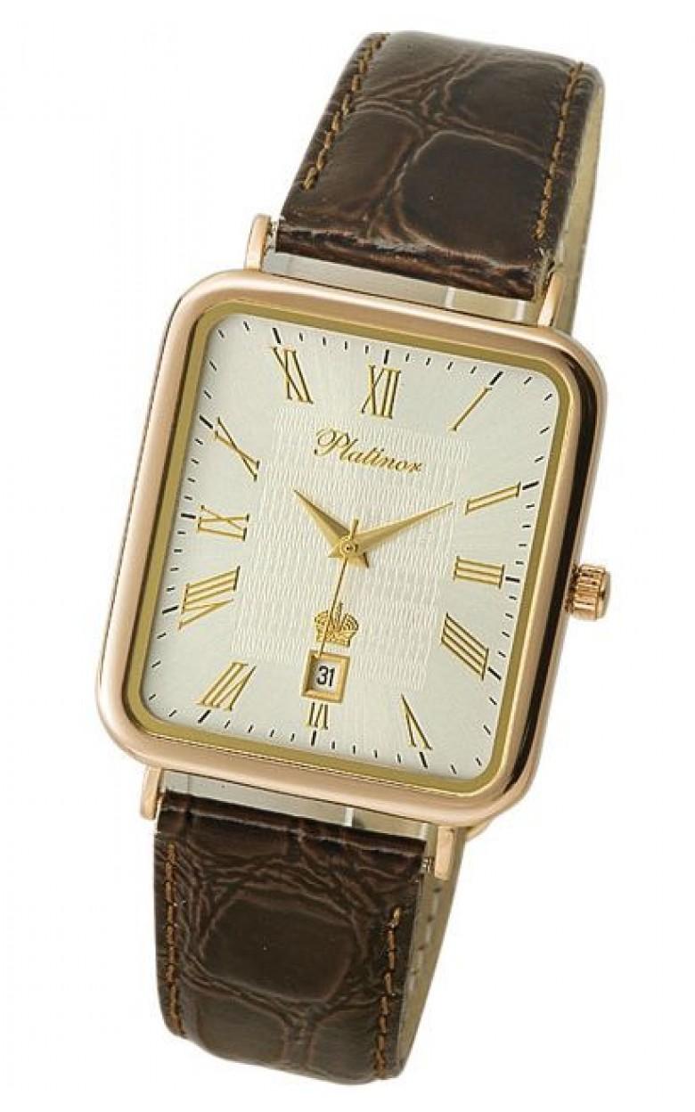 54650.221 российские золотые кварцевые наручные часы Platinor