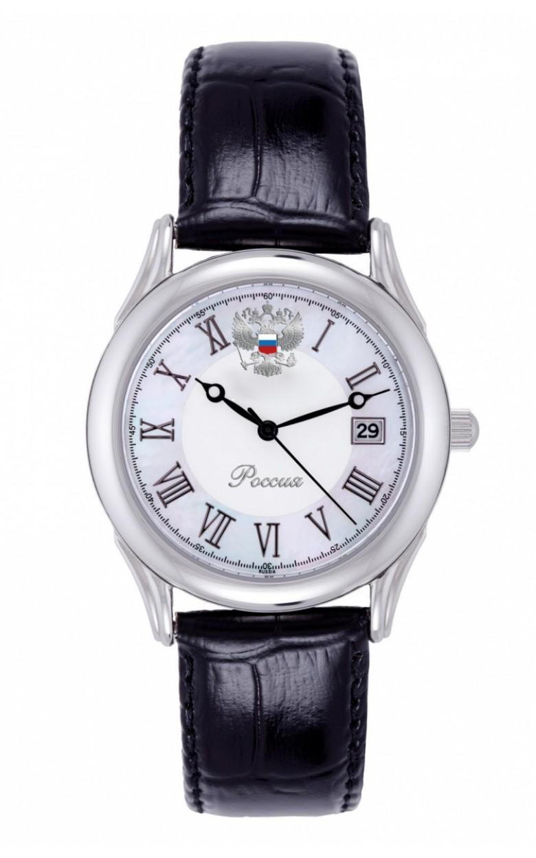 2315/4021140П российские мужские кварцевые наручные часы Полёт-Стиль логотип Герб РФ  2315/4021140П