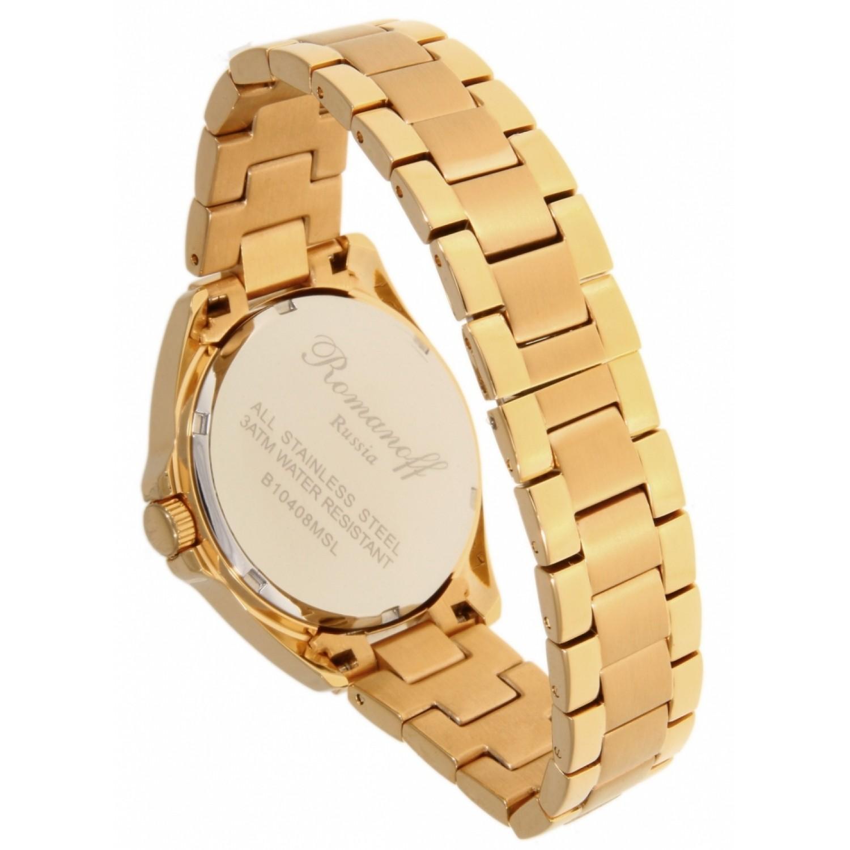 10408LA5 российские женские кварцевые наручные часы Romanoff