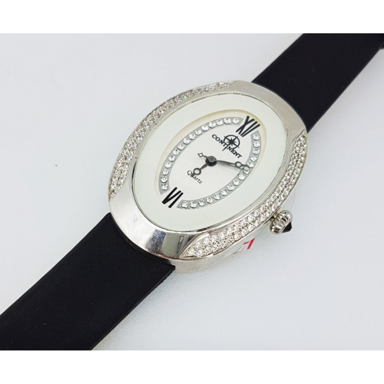 321.2.763 российские серебрянные кварцевые наручные часы Continent для женщин  321.2.763