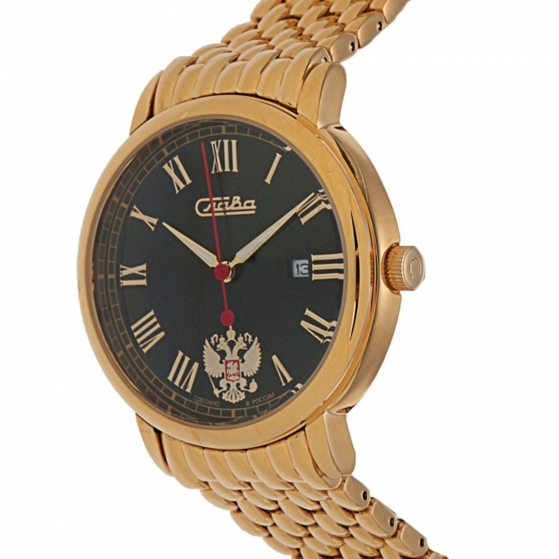 1419732/2115-100 российские мужские кварцевые часы Слава