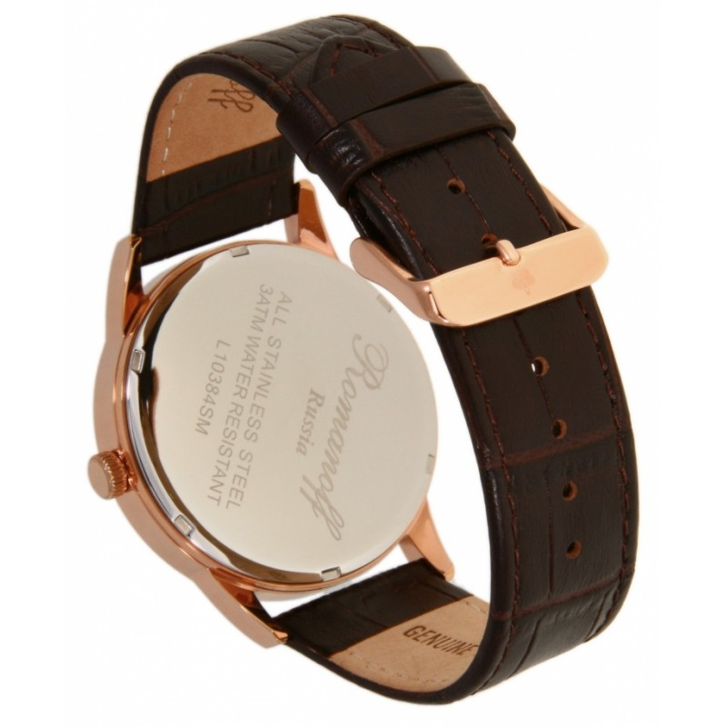 "10384/1B1BR российские кварцевые наручные часы Romanoff ""Grand Time"" для мужчин  10384/1B1BR"