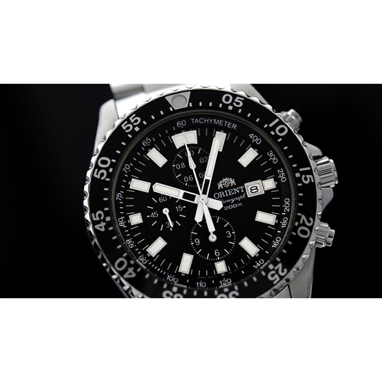 FTT11002B0 японские водонепроницаемые мужские кварцевые наручные часы Orient  FTT11002B0
