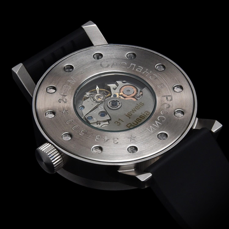 2415.18 российские водонепроницаемые механические наручные часы UMNYASHOV для мужчин  2415.18