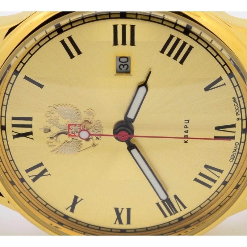 "1409727/2115-300  кварцевые часы Слава ""Традиция"" логотип Герб РФ  1409727/2115-300"