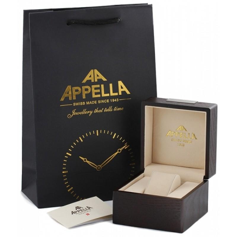 """4348A-3014 швейцарские кварцевые наручные часы Appella """"Classic"""" для женщин  4348A-3014"""