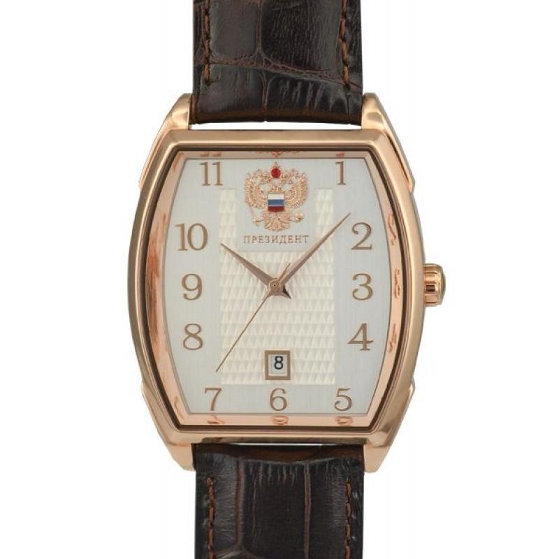 4259292/8215 российские механические наручные часы Президент для мужчин логотип Герб РФ  4259292/8215