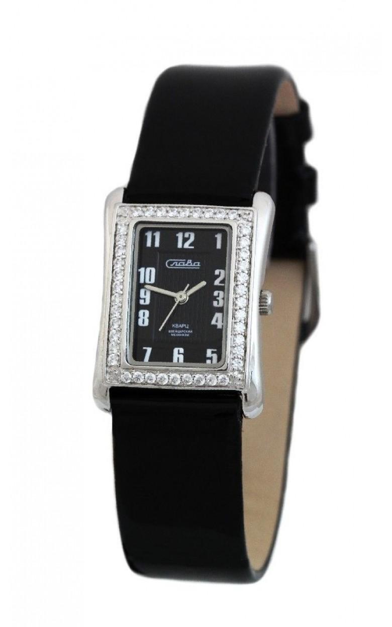 С4842057/763-11,50 российские серебрянные женские кварцевые наручные часы Слава