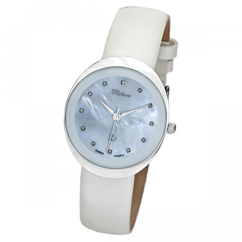 """94006.324 российские серебрянные кварцевые наручные часы Platinor """"Галатея"""" для женщин  94006.324"""