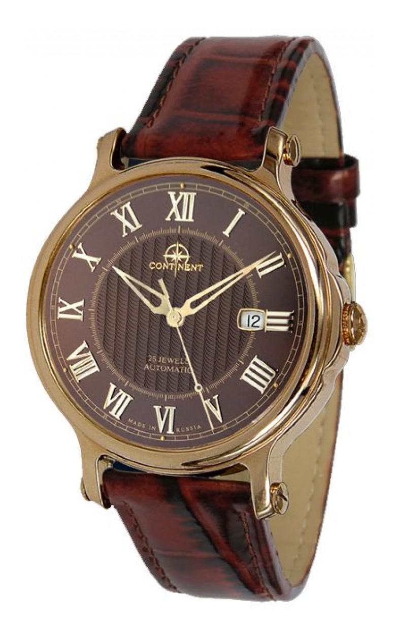107.6.2824 российские золотые механические наручные часы Continent для мужчин  107.6.2824