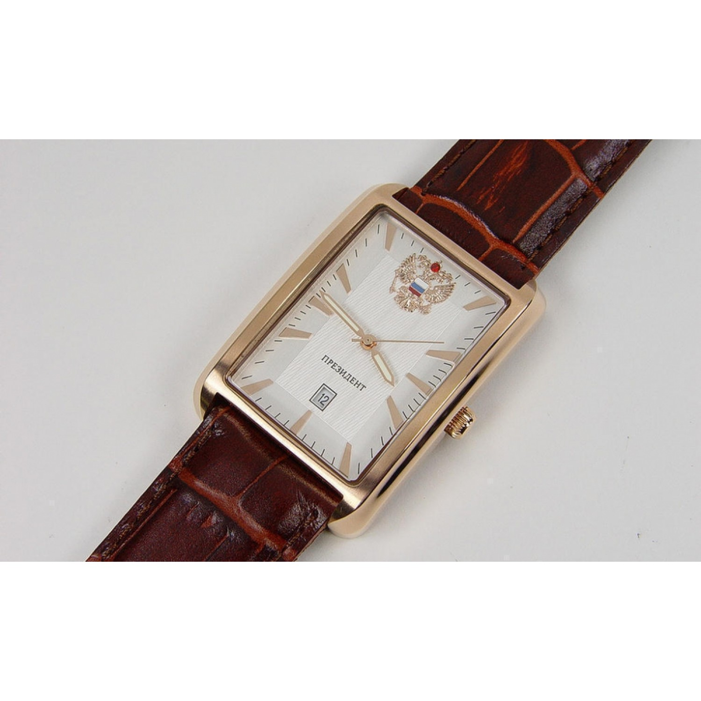 3139863 российские кварцевые наручные часы Президент для мужчин логотип Герб РФ  3139863