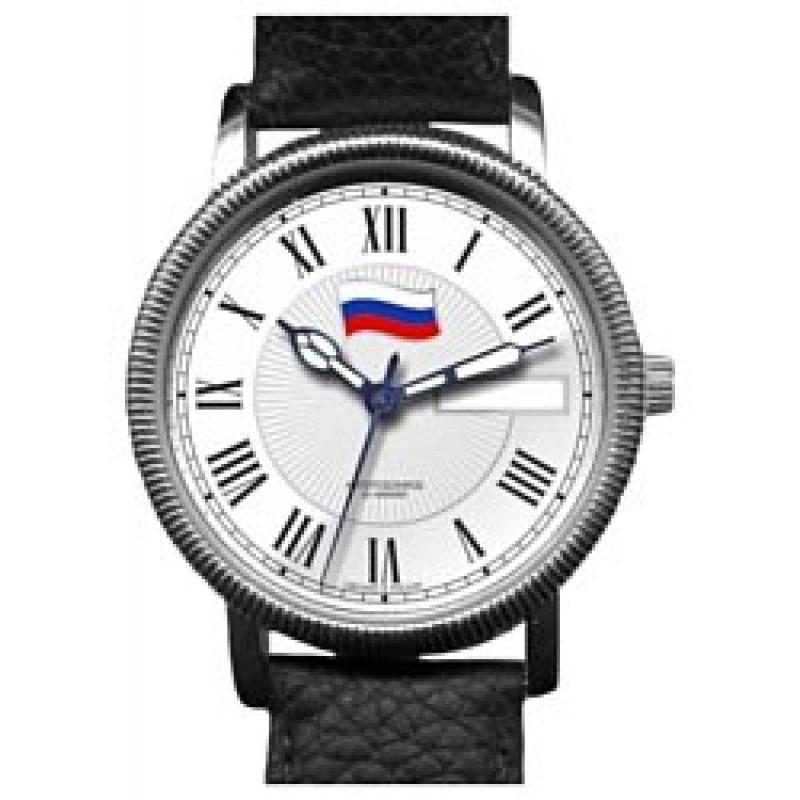 """1111259/300-2427 российские механические наручные часы Слава """"Премьер"""" для мужчин логотип Флаг РФ  1111259/300-2427"""