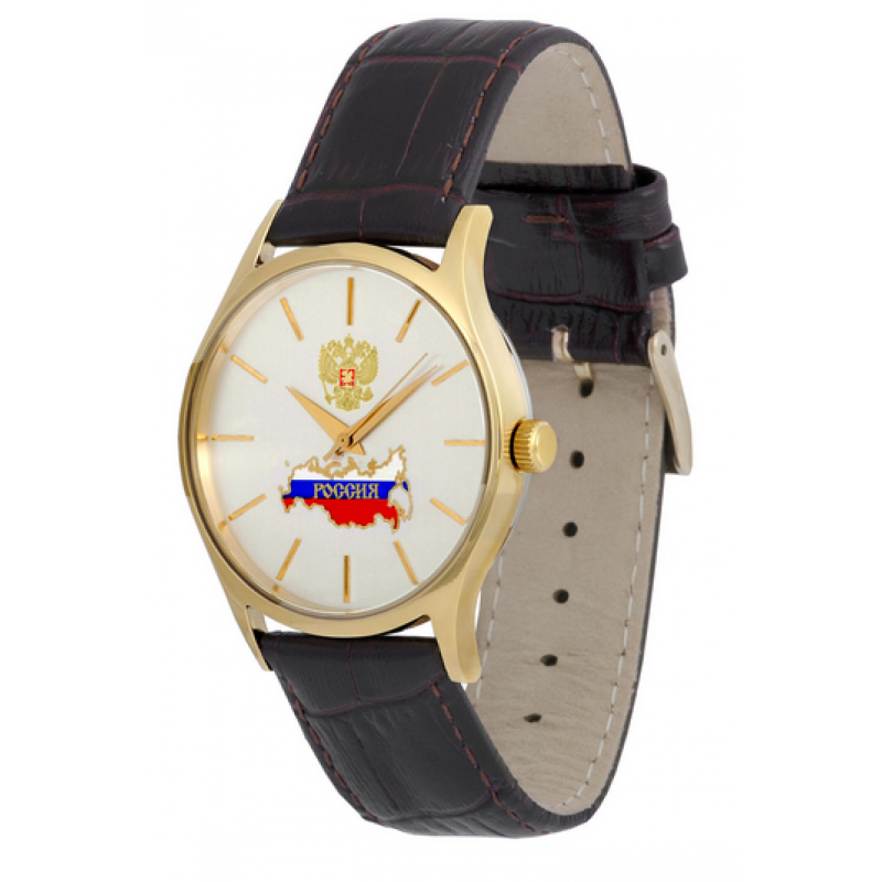 763/52846103П российские кварцевые наручные часы Премиум-Стиль для мужчин логотип Герб РФ  763/52846103П