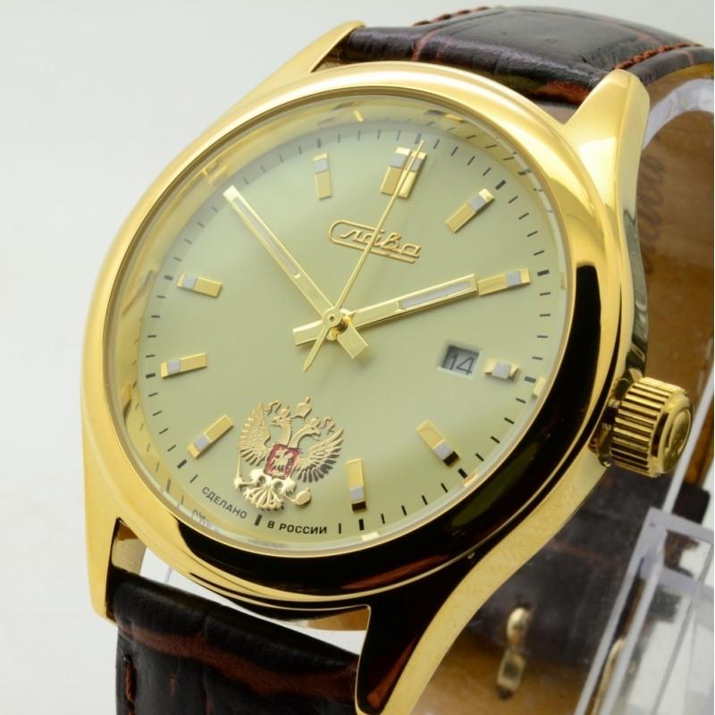 1369612/300-2414 российские механические наручные часы Слава для мужчин  1369612/300-2414