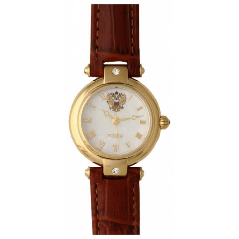5026111 российские кварцевые наручные часы Президент для женщин логотип Герб РФ  5026111