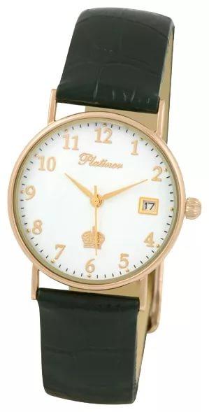 54530.105 российские золотые мужские кварцевые часы Platinor  54530.105