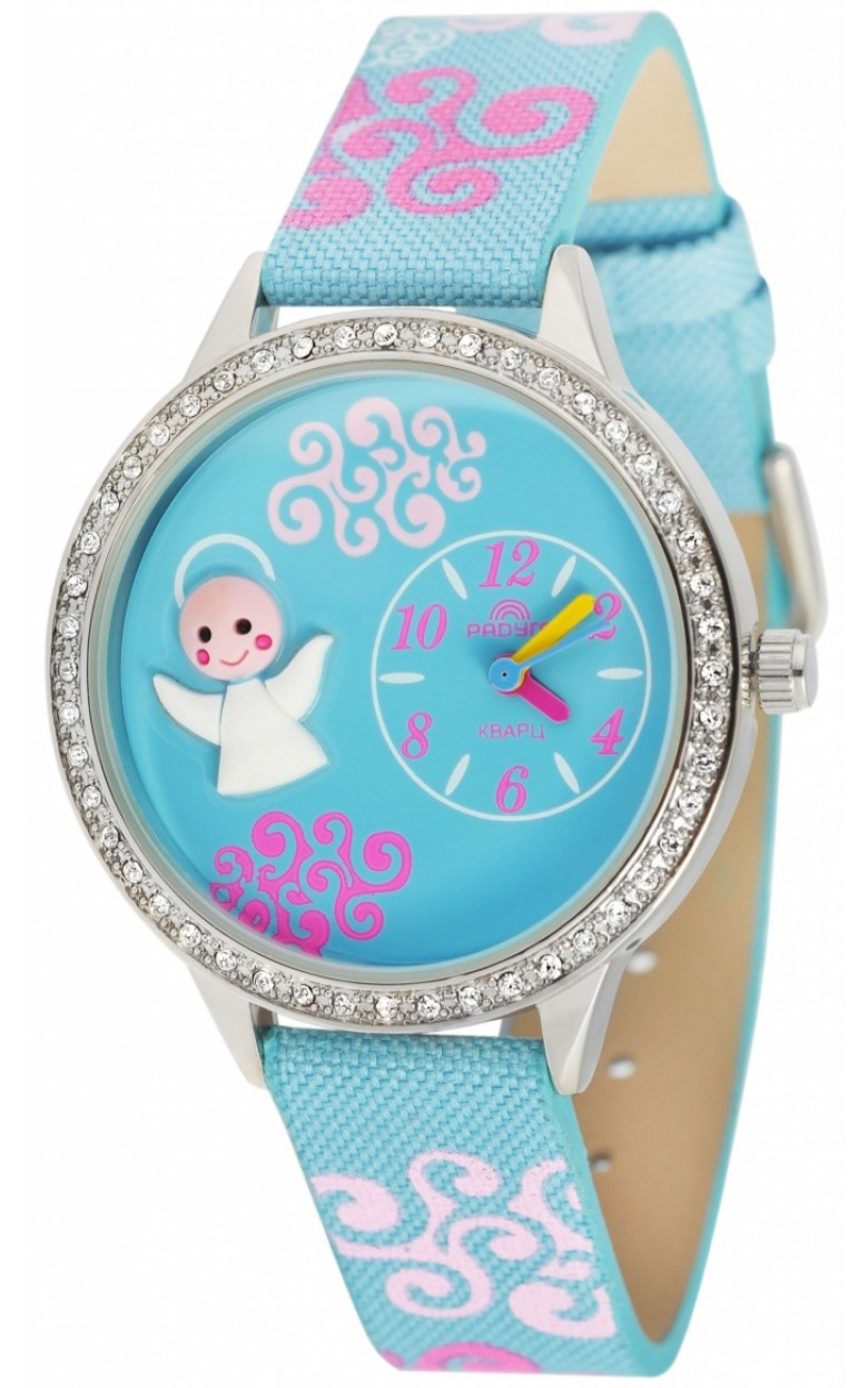 110 синий ангелочек российские детские кварцевые часы Радуга  110 синий ангелочек