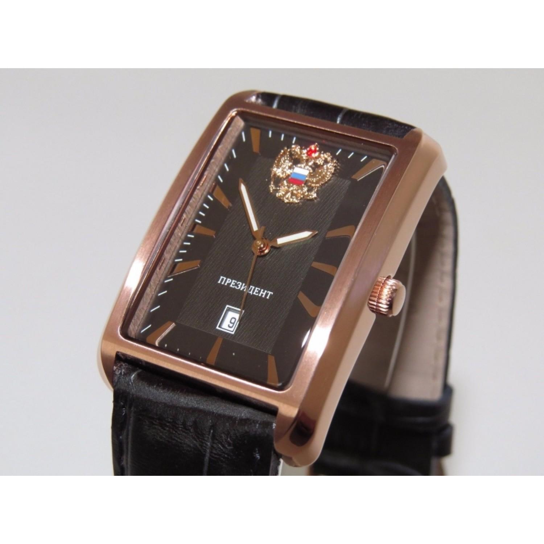 3139864 российские мужские кварцевые часы Президент логотип Герб РФ  3139864