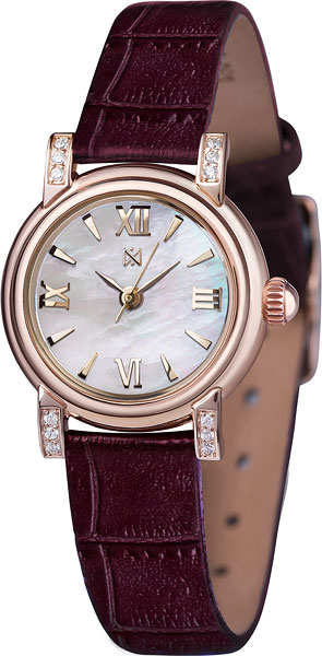 """0012.2.1.33A российские золотые кварцевые наручные часы Ника """"Viva"""" для женщин  0012.2.1.33A"""