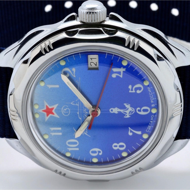"""211289 российские военные мужские механические наручные часы Восток """"Командирские""""  211289"""