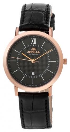 4289-4014_ucenka швейцарские мужские кварцевые наручные часы Appella  4289-4014_ucenka