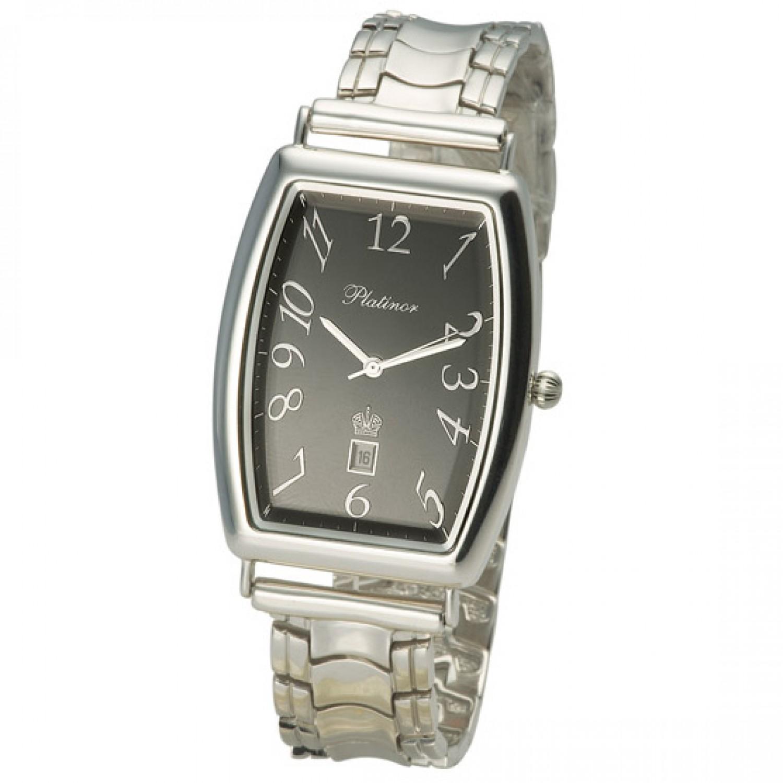 54000.515 российские серебрянные кварцевые наручные часы Platinor
