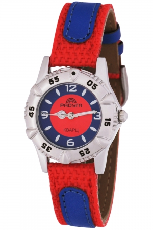 105-2 красно/синие российские детские кварцевые наручные часы Радуга  105-2 красно/синие