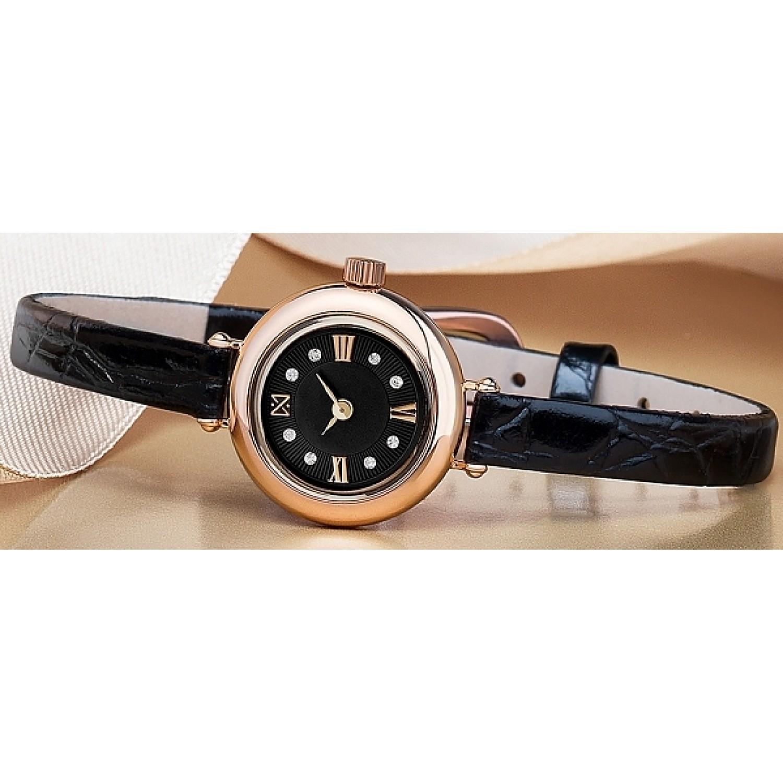 0362.0.1.53C российские золотые кварцевые наручные часы Ника