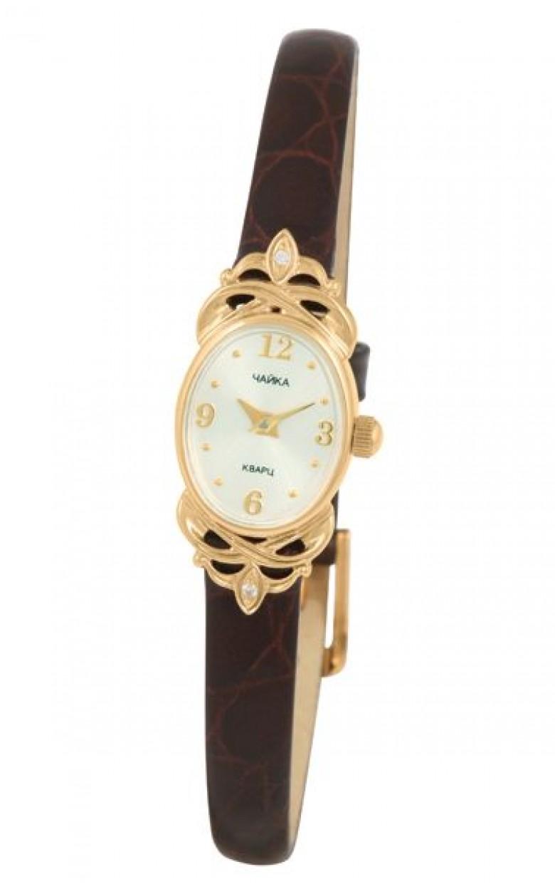 """44350-356.150 российские золотые женские кварцевые наручные часы Platinor """"Нежность""""  44350-356.150"""