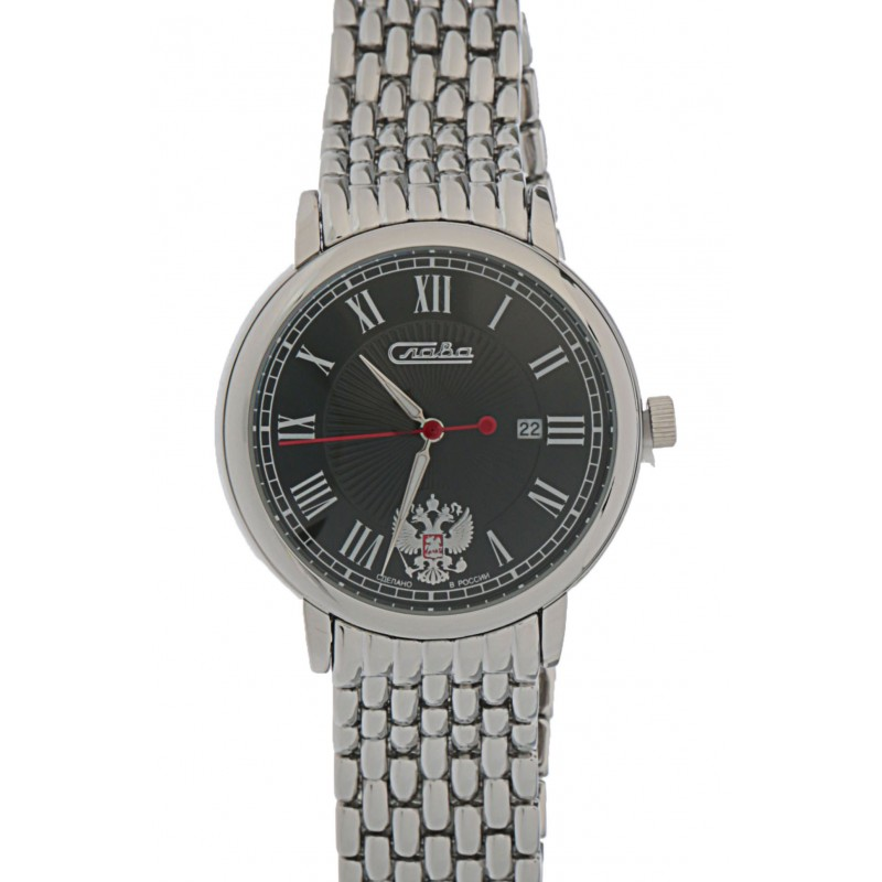 1411706/2115-100 российские мужские кварцевые часы Слава
