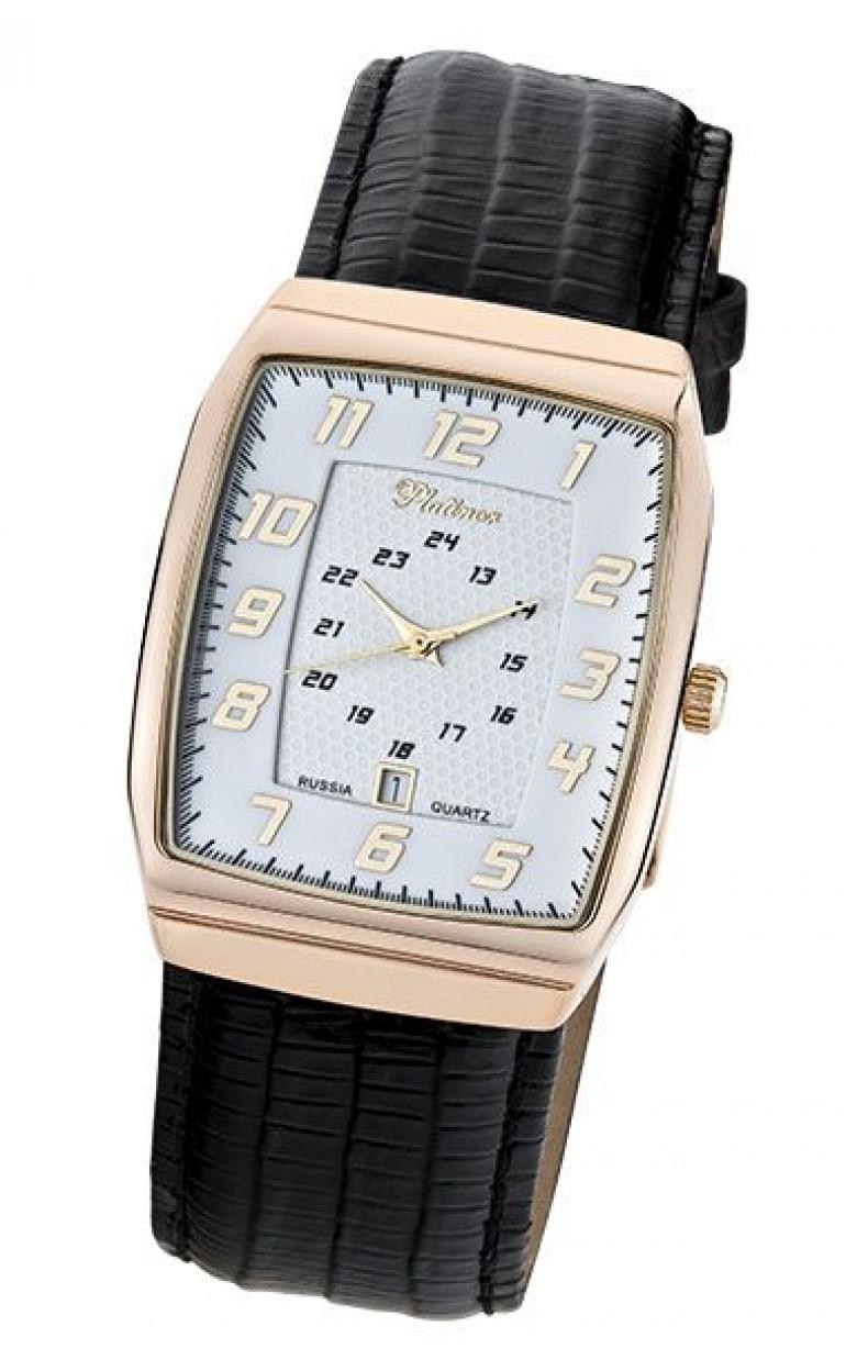 51350.107 российские золотые кварцевые наручные часы Platinor