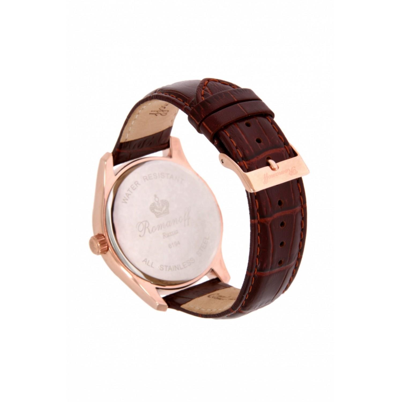 6194B4BR российские мужские кварцевые часы Romanoff