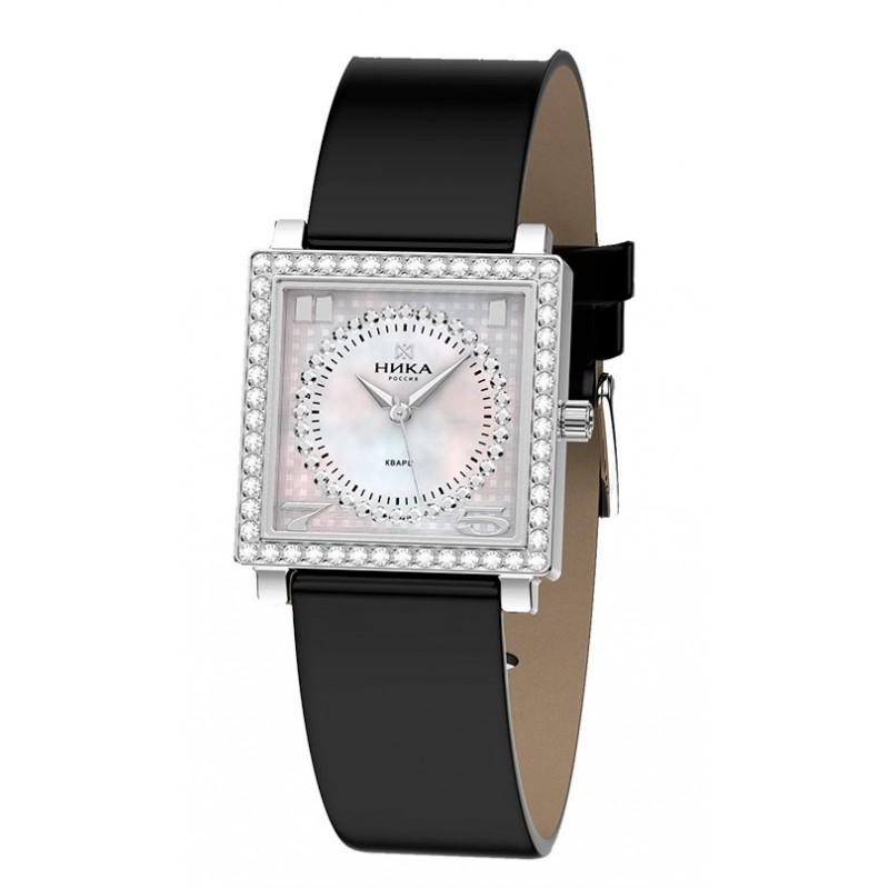 """1804.2.9.34Н российские серебрянные кварцевые наручные часы Ника """"Ego"""" для женщин  1804.2.9.34Н"""