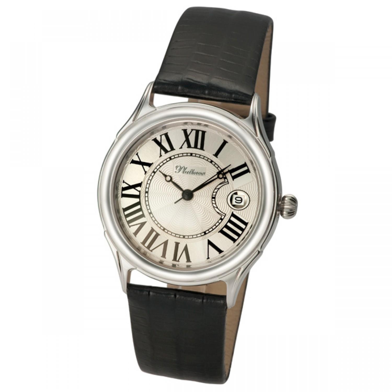 """50400.206 российские серебрянные механические наручные часы Platinor """"Юпитер"""" для мужчин  50400.206"""