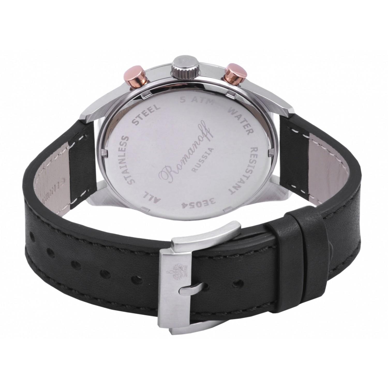 3054T/TB3BL российские мужские кварцевые наручные часы Romanoff  3054T/TB3BL