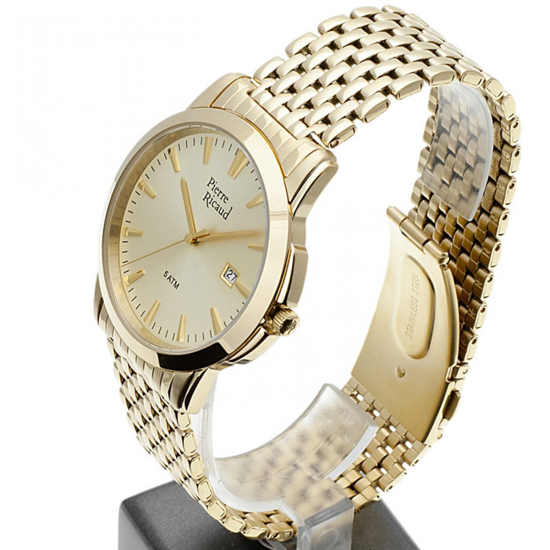 """P91027.1111Q  мужские кварцевые наручные часы Pierre Ricaud """"Gents Bracelet""""  P91027.1111Q"""