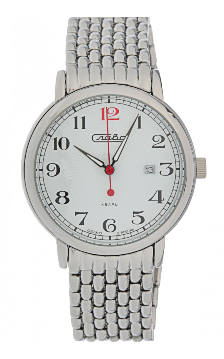 """1411700/2115-100 российские кварцевые наручные часы Слава """"Традиция"""" для мужчин  1411700/2115-100"""