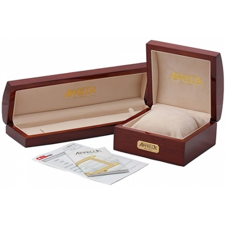 829-1011-24,90 швейцарские золотые кварцевые наручные часы Appella для мужчин  829-1011-24,90