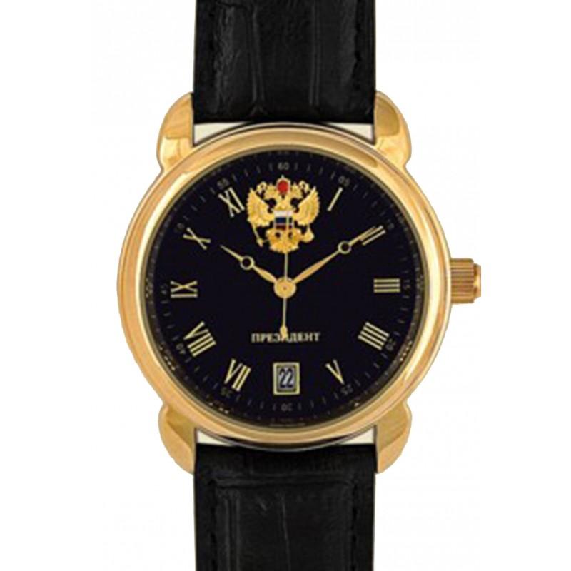 4076681 российские кварцевые наручные часы Президент для мужчин логотип Герб РФ  4076681