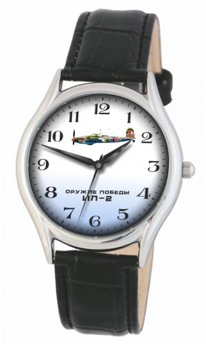 """1111555/2035  кварцевые наручные часы Слава """"Патриот"""" логотип ИЛ-2  1111555/2035"""