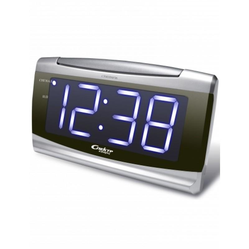 Электронные сетевые настольные часы-будильник спектр ск ч-к.