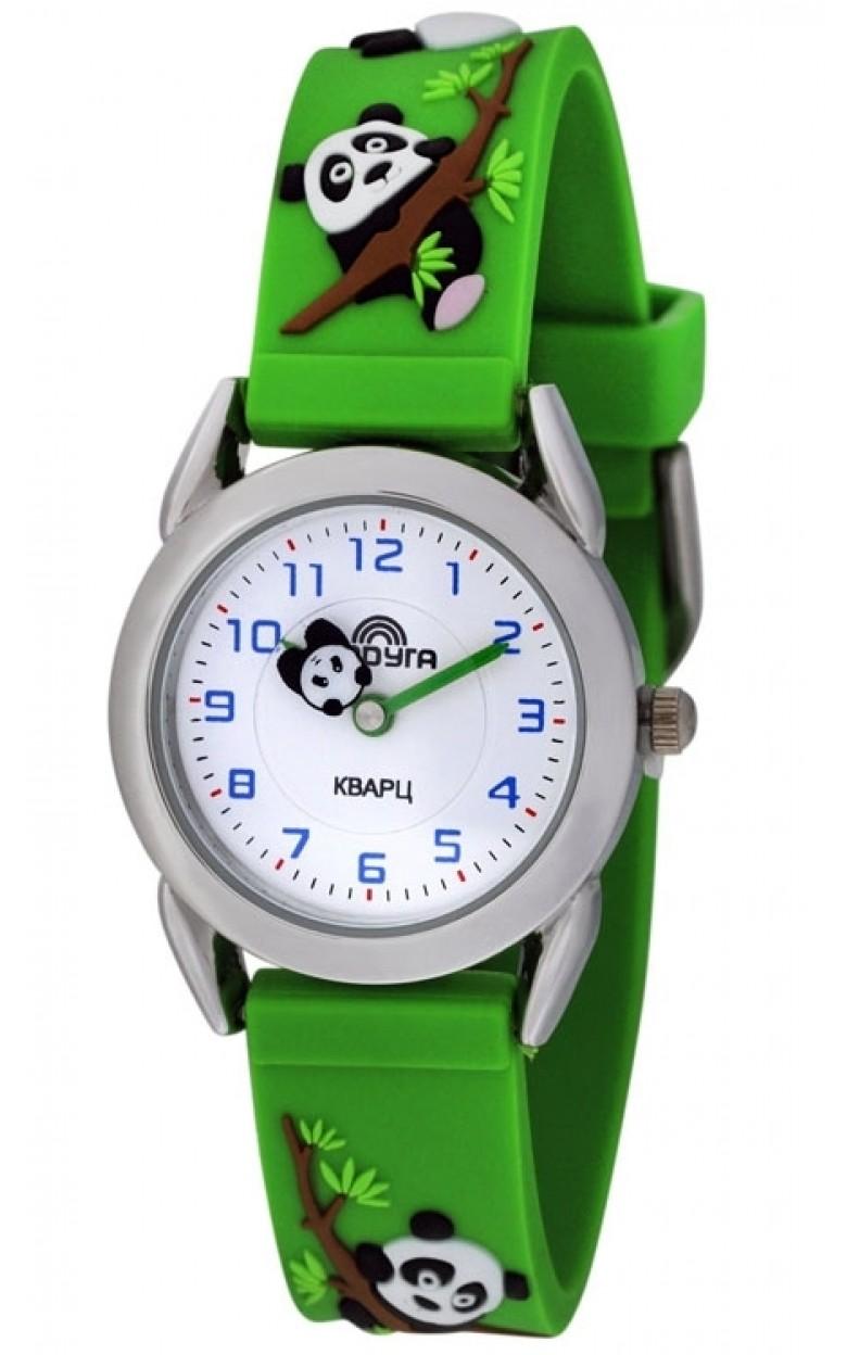 107 зеленая панда российские кварцевые наручные часы Радуга для детей  107 зеленая панда