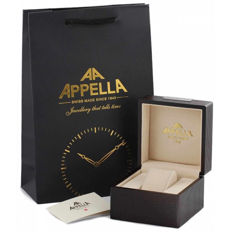 417-2004 швейцарские механические наручные часы Appella для мужчин  417-2004