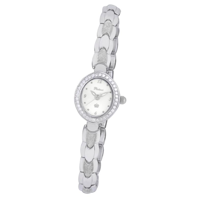 """78806.216 российские серебрянные женские кварцевые наручные часы Platinor """"Мэри""""  78806.216"""