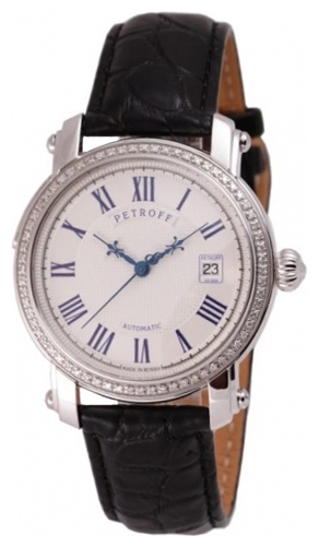 P034/3041-37.52 российские серебрянные механические наручные часы Petroff  P034/3041-37.52