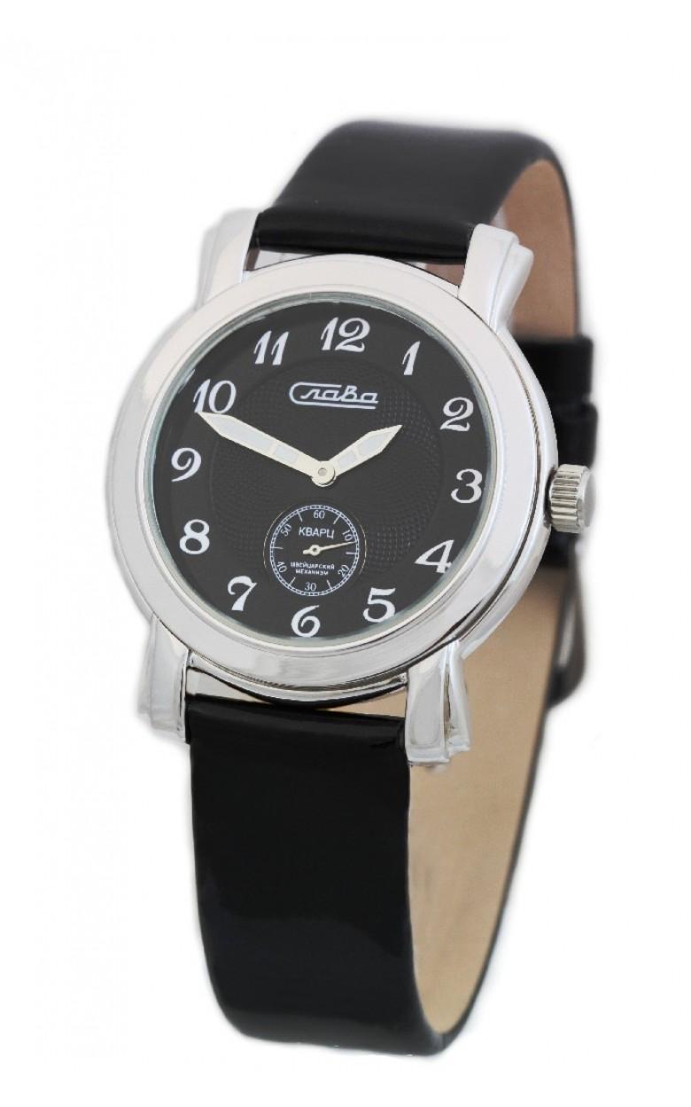 С4042041/1069 российские серебрянные кварцевые наручные часы Слава